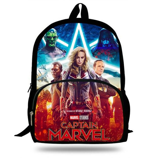 16-inch Popular Character Backpack For Kids Boys Girls Captain Marvel Bag  For Children School Bookbags For Teenagers Travel Bag 775f0237de0fb