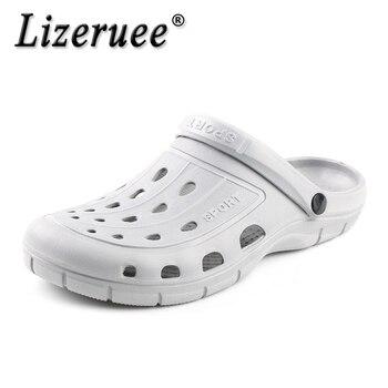 Lizeruee, Zuecos de EVA de verano para hombre, pantuflas para jardín, Sandalias de playa para hombre, Zuecos al aire libre, zapatillas para hombre, Sandalias, zapatos de Zuecos de mula