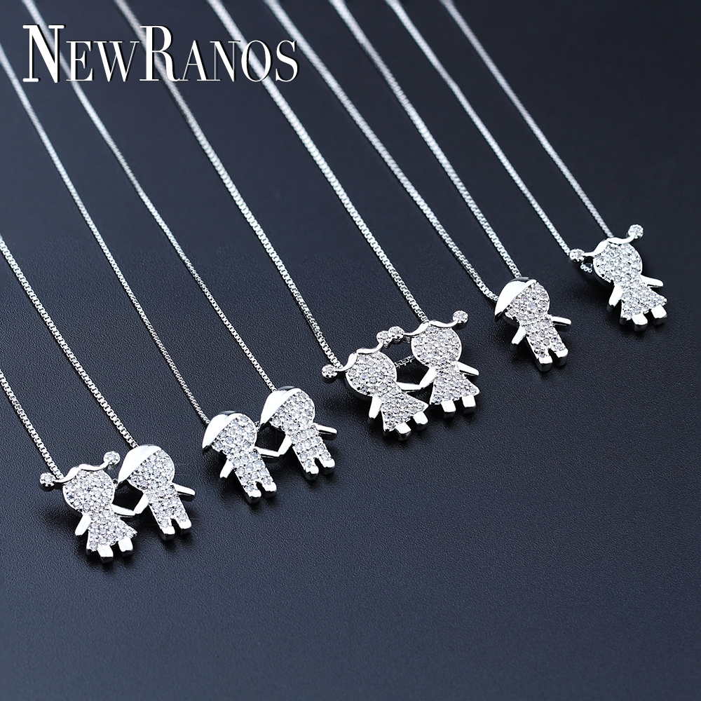 New Gift New Design Boy and Girl Pendant Necklace Jewelry for