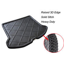 Auto Car Rear Trunk Liner Cargo Floor Tray Hatch Boot Mat Carpet For 2009-2017 Volvo XC60 Car Accessary car rear trunk mat car boot mat cargo liner for lincoln mkc mkx mkz volvo s60 xc60 xc90 2018 2017 2016 2015 2014 2013