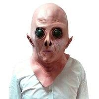 Halloween Pasen Terreur Masker Vinyl Scary Realistische UFO Alien Head Full Face Horror Masker Party Cosplay Kostuum MI4