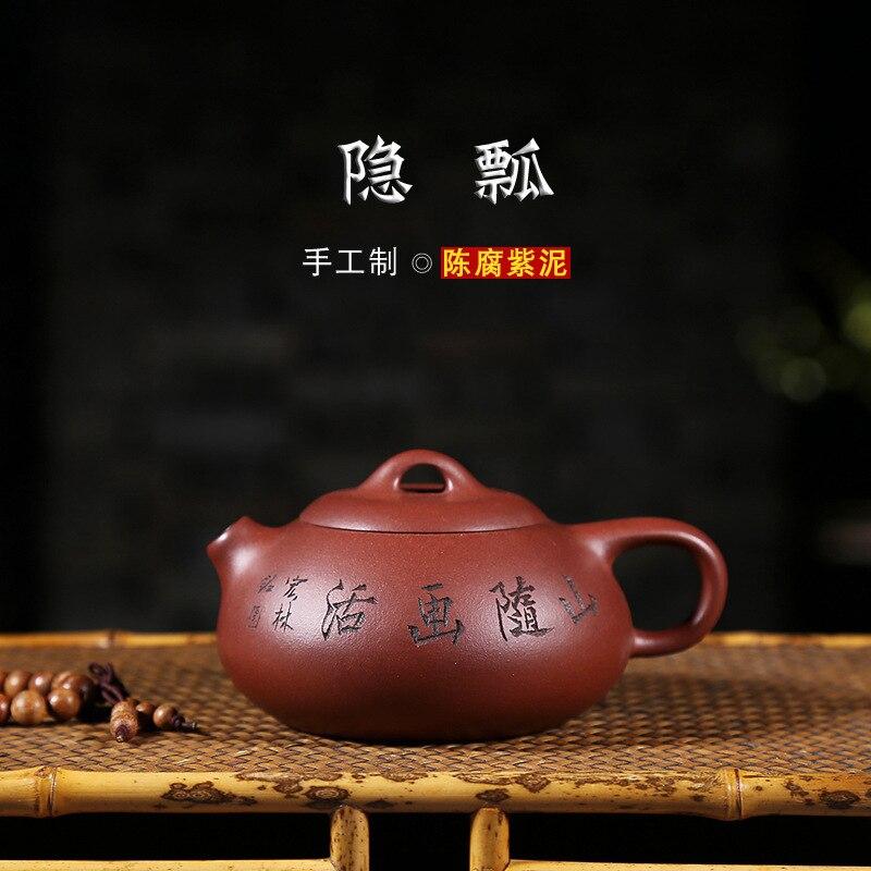 Recommandé par pur manuel authentique déshabillé minerai stale violet argile théière xi shi en gourde louche pot de qualité de thé
