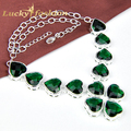 Hot sale brand fashion design western style heart rhinestone necklaces for women crystal jewelry statement necklace