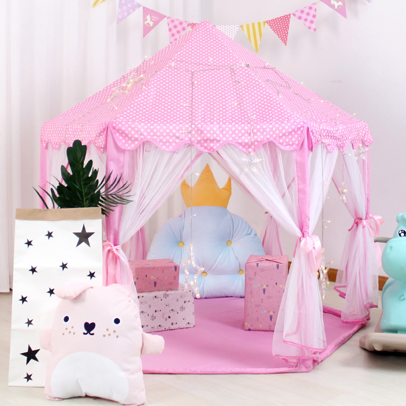 Baby Play Tent Portable Folding Prince Princess Tent Children Castle Play House Kid Gift Outdoor Beach Tent Toys For Kids Wigwam new arrival portable kids play tents folding indoor outdoor garden toys tent castle pop up house for children chiristmas gift