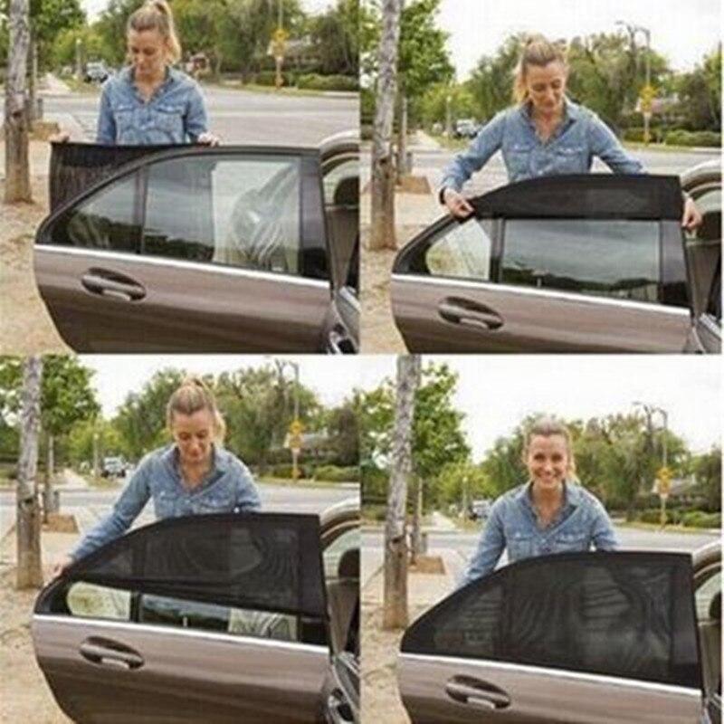 2 шт автомобилей черный Задняя сторона солнцезащитный, изоляционный экран боковая Солнцезащитная шторка окна автомобиля навес Обложка про...