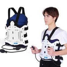 1 conjunto airbag voltar apoio confortável costas e ombro cinta para homem e mulher dispositivo médico fratura pós operatório