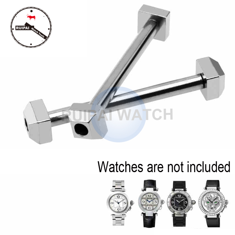 2pcs/lot Watch Strap Link Screw Rod Parts Watchband Link Bar Accessories Replacement Parts for Cartier PASHA series watches