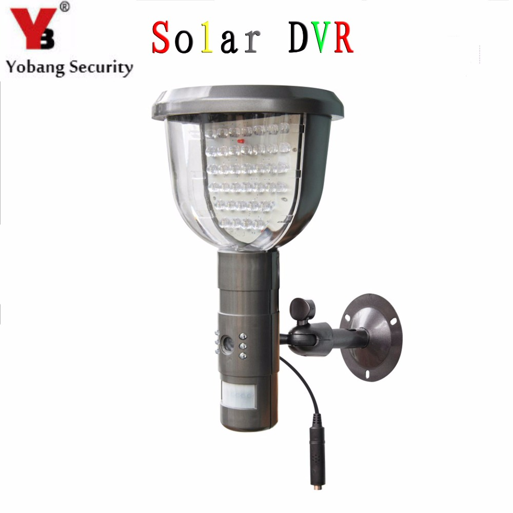 YobangSecurity Waterproof cam Solar Power PIR Outdoor Security Camera With Night Vision Surveillance CCTV Camera Video Recorder