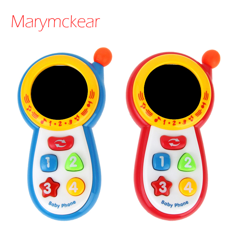 Bule/ Red Baby Phone Musical Toy Children Educational Toys Infant Mobile Phone Toy Children Learning Music Toy Mini Phone