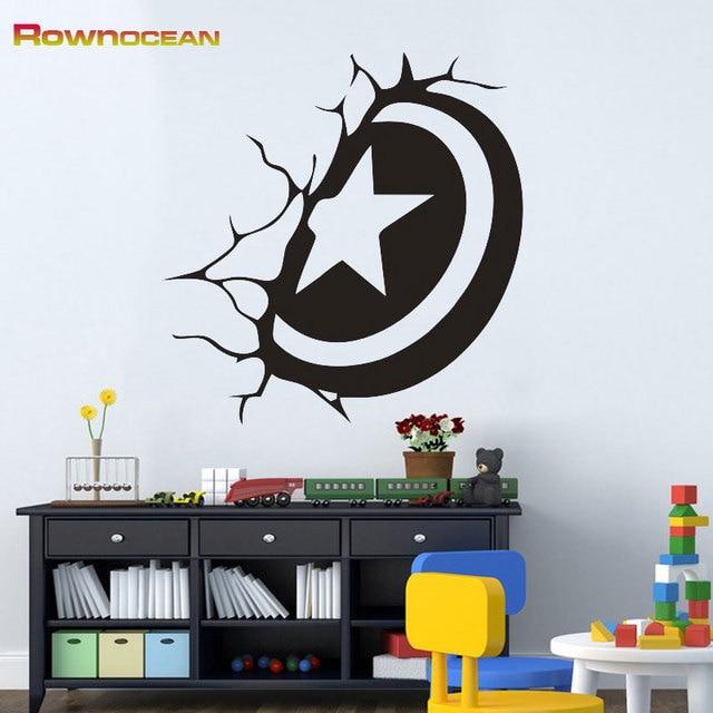 Rownocean marca arte decoración escudo capitán pegatinas de pared ...