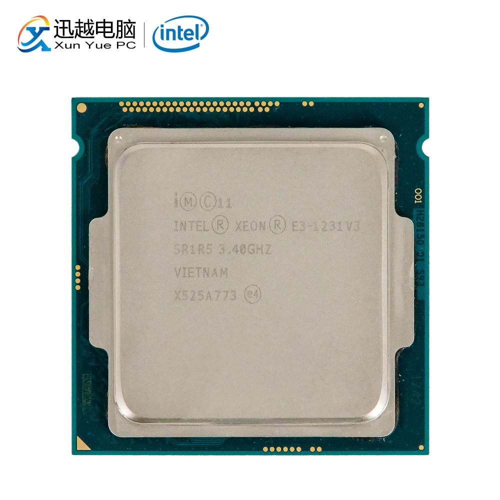 Processeur d'ordinateur de bureau Intel Core E3-1231 V3 E3 1231 V3 Quad-Core 3.4 GHz 8 mo L3 Cache LGA 1150 serveur utilisé CPU