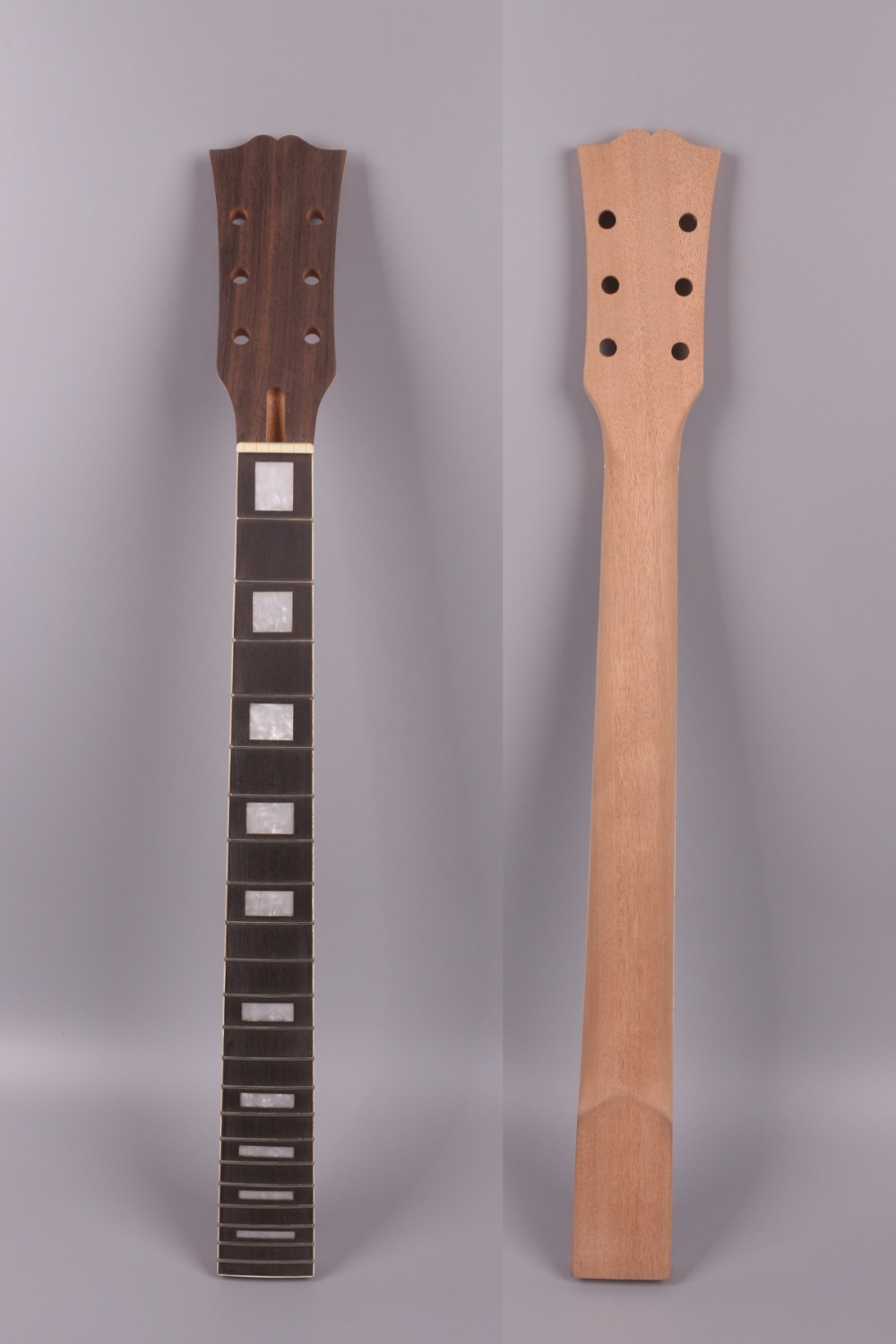 Yinfente electric guitar neck 22 fret Paddle head rosewood fretboard Block LP electric guitar neck replacement #l4 wholesale cnbald 6 string guitar fdr str electric guitar rosewood fretboard 3 pickups in cream 130516