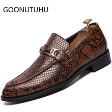 2019 new mens shoes casual pu leather male loafers classic brown red & black slip on shoe man nice party for men hot sale