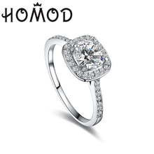HOMOD Luxury Silver Rings for Women Wedding Engagement Acessories Cubic Zirconia Jewelry Big Promotion 2019 Hot