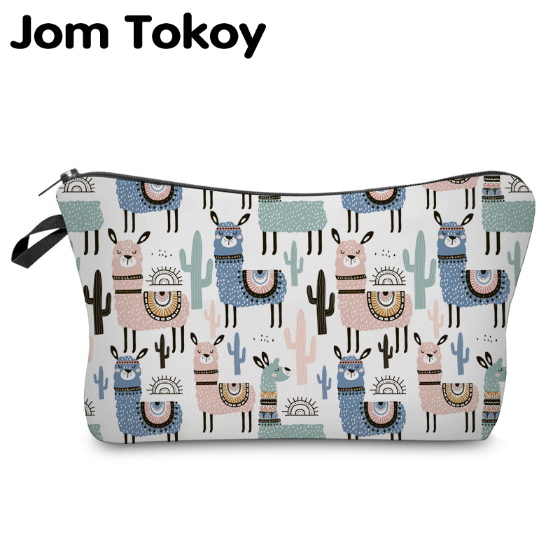 Jom Tokoy Cosmetic Organizer Bag Make Up Printing Llama Cosmetic Bag Fashion Women Brand Makeup Bag Hzb931