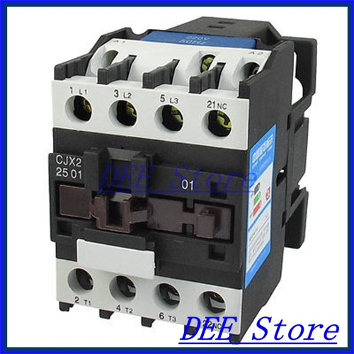 CJX2-2501 AC-3 660V 40A 11KW 3 Poles 3P NC DIN Rail AC Contactor 220V Coil люстра потолочная idlamp simone 217 6pf blackchrome
