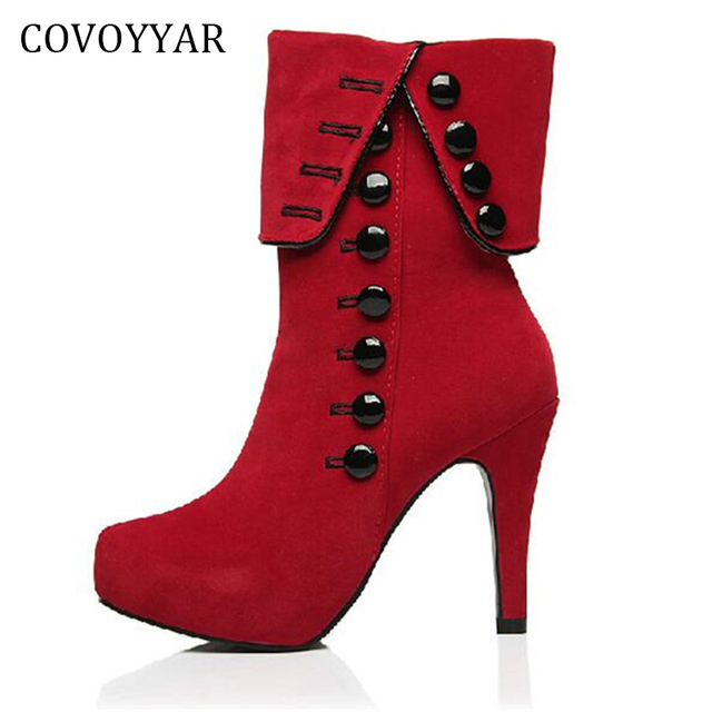 Chaussures automne rouges femme