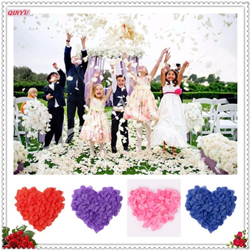 2020 оптовая продажа 500 шт. шелковые искусственные лепестки роз цветок свадьбы пользу Свадебный Baby Shower ваза в проход Декор DIY Свадебные bedhoom 6Z