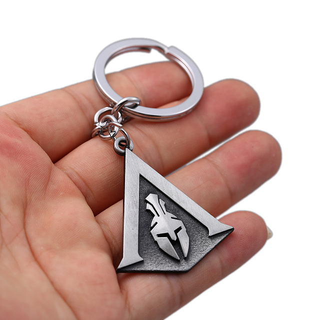 Assassins Creed Keychain Odyssey New Game assassin's Key Chain Key Holder Porte Clef Llaveros Hombre 3