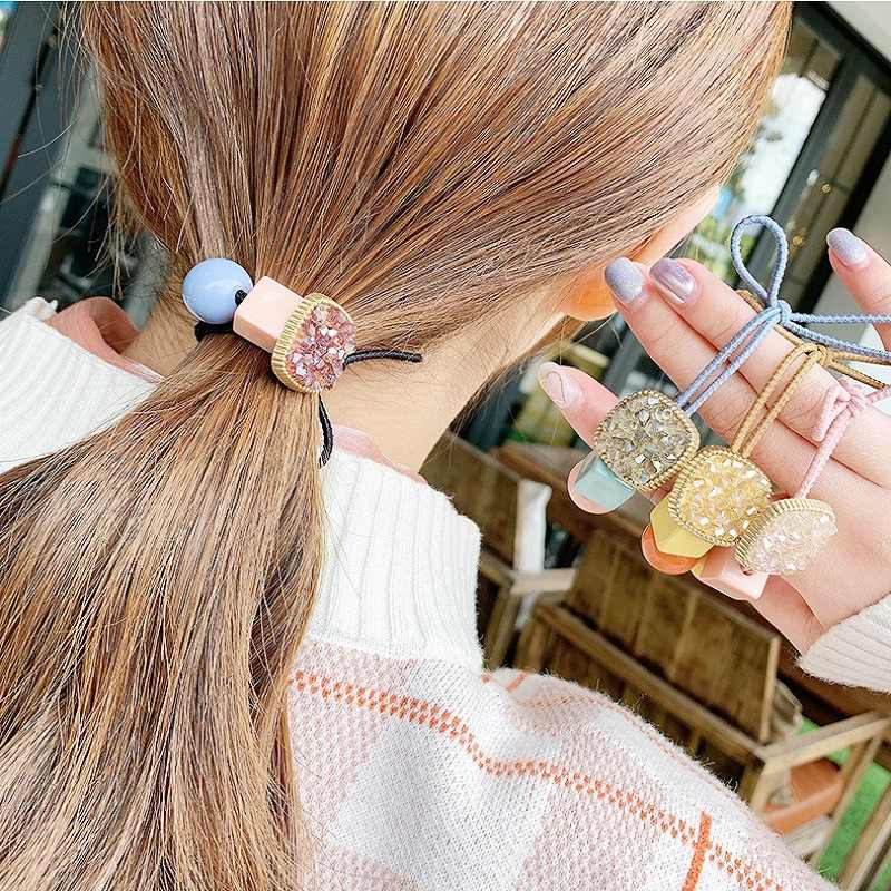 Ins Candy Color Girls Gum For Hair Women Korean Scrunchies Elastic Rubber Bands Hair Accessories