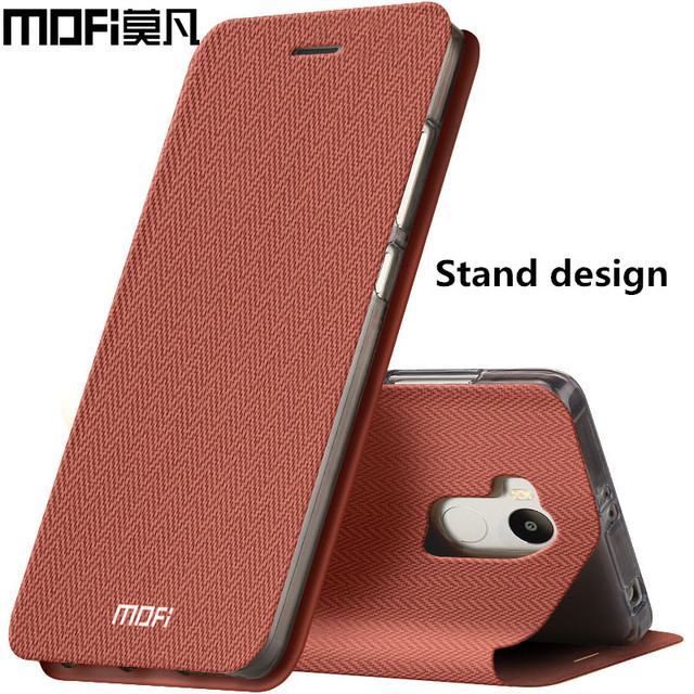 reputable site c30f4 5a5d8 US $9.99 |xiaomi redmi 4 pro case flip cover MOFi leather hard back silicon  xiaomi mi redmi 4 pro original case 5.0