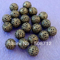 Free shipping!!!!! wholesale 500pcs 10mm ANTIQUE BRONZE FILIGREE BEADS/End Spacer Beads 4mm