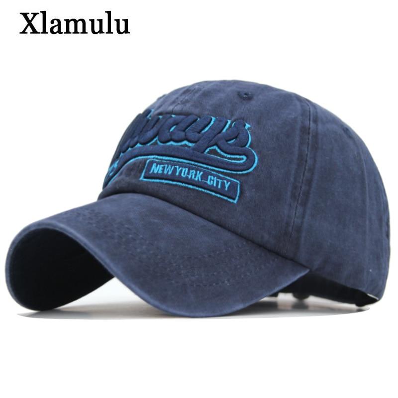 Men Baseball Caps Hat Snapback Hats Women Washed Vintage Embroidery Bone Male