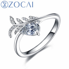 ZOCAI Design Engagement Ring Pear Shape Total Stone 0.55 CT D/VVS2 18K gold (AU750) Diamond ring Gift To Your Lover W06589 дефлектор капота ca mazda demio 2006