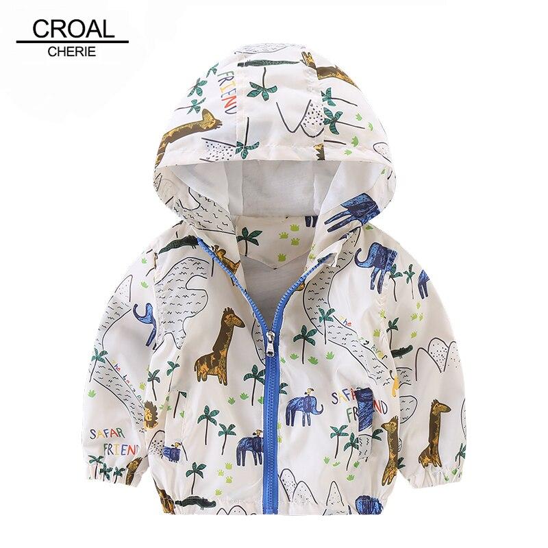 80-120 см милые животные Дети Мальчик одежда граффити Водонепроницаемый куртка Жираф ветровка детская верхняя одежда Плащи для девочек