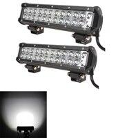 2pcs 12 72W LED Light Bar Spot Flood Combo Led Off Road 12V 7200lm Driving Lights