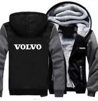 4 Colour Women and men Volvo zipper sweatshirts customized 4S shop overalls VOLVO 4S shop thick collar zip hoodie