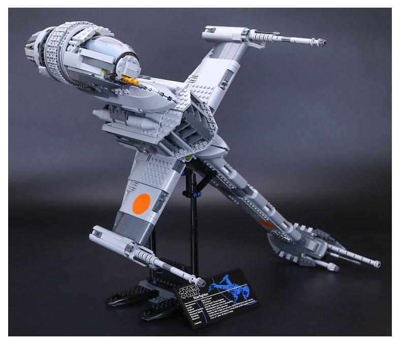 Lepin 05045 Star Plan 1487pcs 10227 B Wing Fighter Wars Set Building