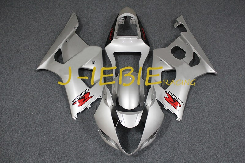 Silver Injection Fairing Body Work Frame Kit for SUZUKI GSXR 1000 GSXR1000 K3 2003 2004