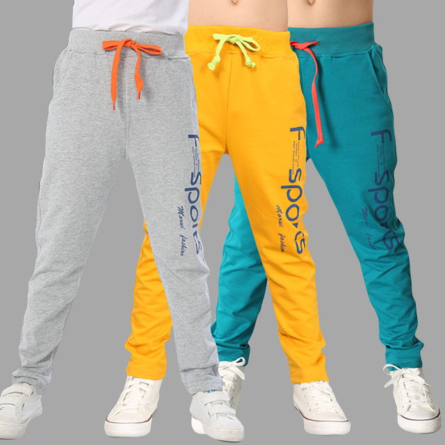 4f5e9d0566a7 Boys Sport Pants Letter Print Cotton Kids Trousers Teenage Children Pants  Casual Style Kids Boy Clothes 6 8 10 12 14 Year -in Pants from Mother   Kids  on ...