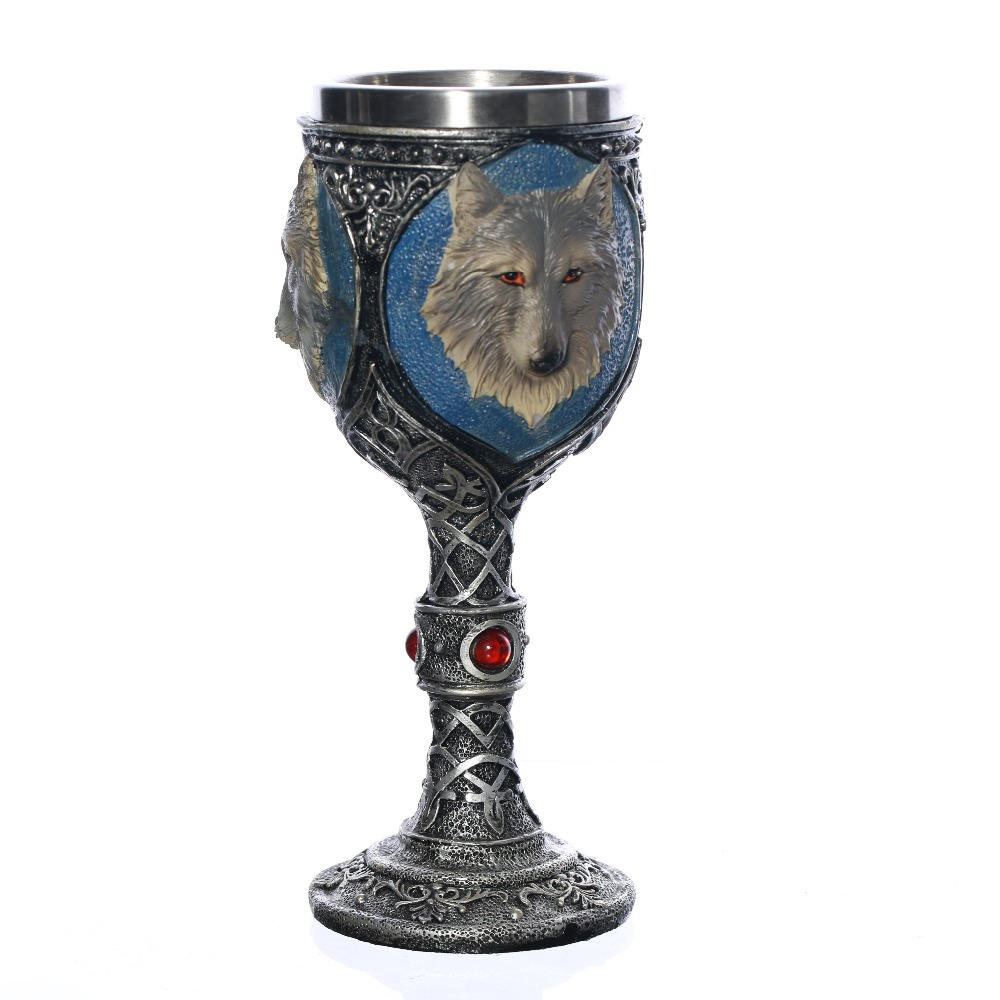 New product Stainless Steel Wolf Head Goblet As A Gift For Boyfriend Fastest ePacket