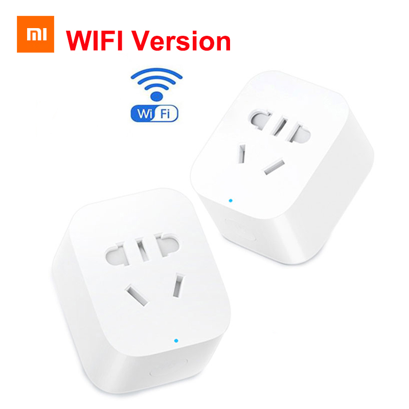 2019 New Arrive Xiaomi Mijia WiFi Mi Smart Socket Plug WiFi Version Wireless Remote Socket Adaptor Power On And Off With Phone