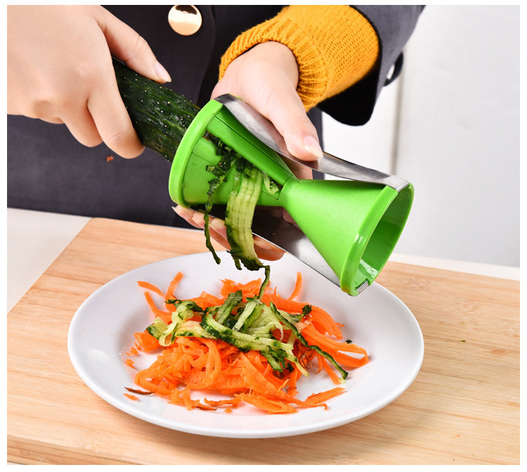 1PC New Vegetable Fruit Spiral Slicer Spirelli Graters Carrots Spiralizer Julienne Cutter Peeler Kitchen Gadgets  KX 001
