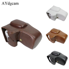 AYdgcam PU leather Camera Case Bag Cover With Strap For Canon 200D Camera Skin Black Brown White Coffee