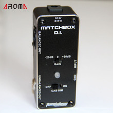 AROMA AMX-3 MATCHBOX D.I.  Transfer guitar or bass signal directly into audio system with True Bypass Design