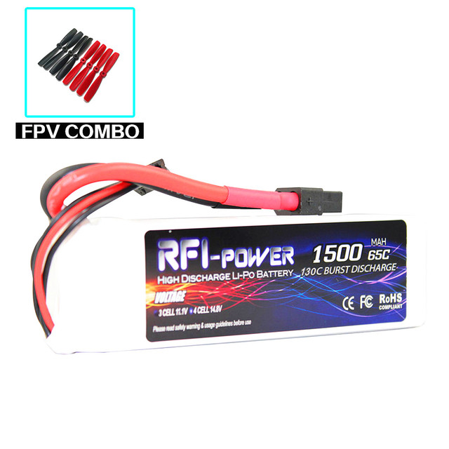 RFI-power 1500mAh 11.1V 65C(Max 130C) 3S Lipo Battery Pack for FPV Racer