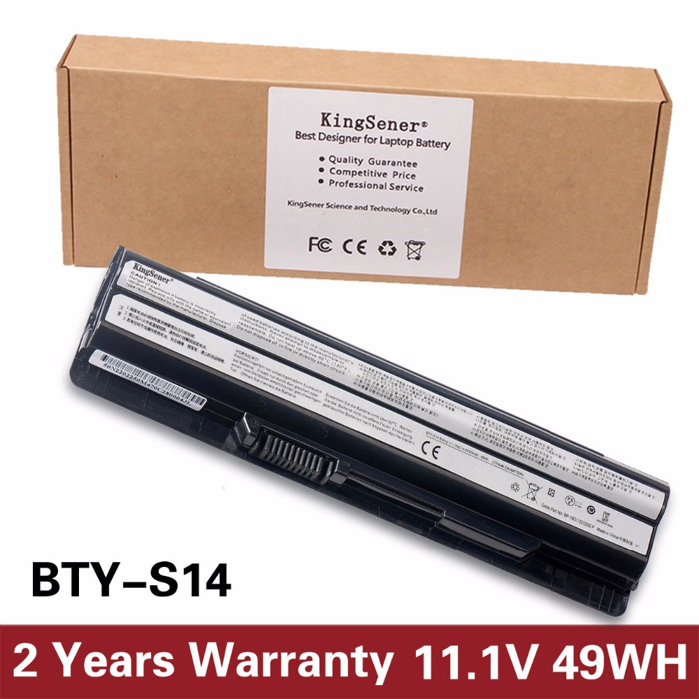 KingSener New BTY-S14 Laptop battery For MSI Laptop Battery GE70 GE60 FX720 GE620 GE620DX GE70 A6500 CR41 CR61 FR720 CX70 FX700 original new cpu fan with heatsink for msi ge70 0nc ge70 0nd ge70 2oc ge70 2od ge70 2oe ms 1756 ms 1757 laptop e33 0800413 mc