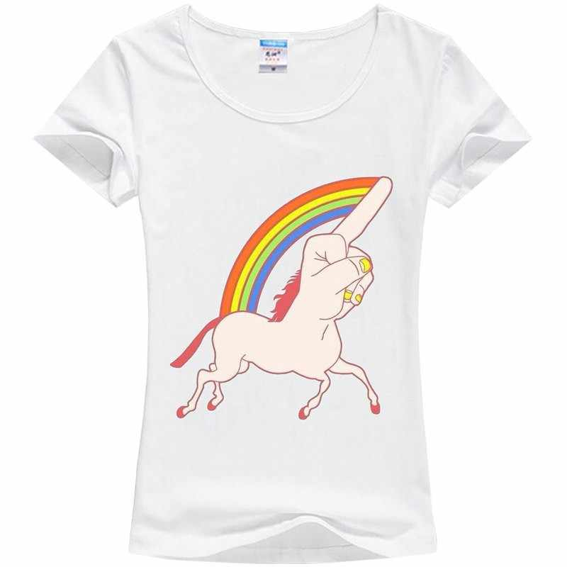 99b4840f0 ... One-horned panda printing T-shirt girl unicorn cute T-shirt KEEP CALM
