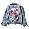 2017 NOVOS homens off white denim jaqueta casaco jeans da moda de alta qualidade flor costurou outwear jaqueta e casaco