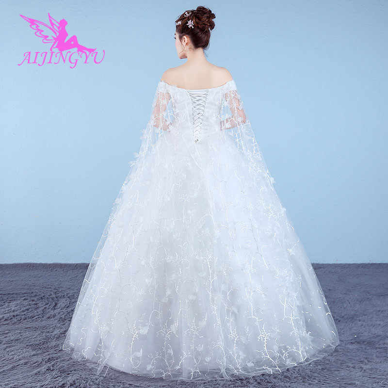 AIJINGYU 2018 custom made free shipping new hot selling cheap ball gown lace up back formal bride dresses wedding dress WK881