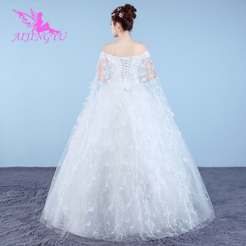 AIJINGYU 2018 sur mesure livraison gratuite nouvelle vente chaude pas cher robe de bal à lacets dos formelle robes de mariée robe de mariée WK881