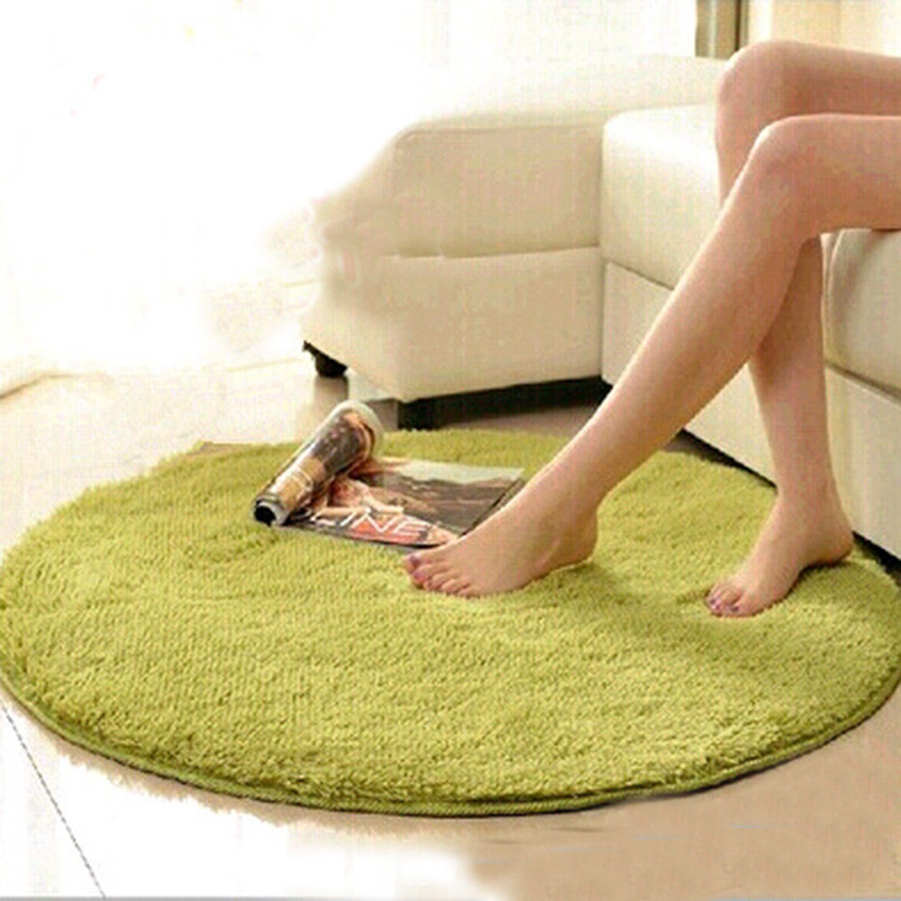 Anti slip Multi Colors Big Round Floor Carpets 100x100cm Pad For Living Room Badroom Circle Mat