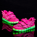 2016 New Fashion USB Rechargeable LED Light Casual Shoes/Boys and Girls Wings Flying Series High Quality Leisure Sneaker