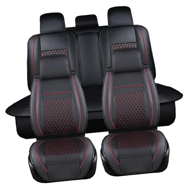 Housse de siège étanche à l'eau noir ensemble complet de voiture en cuir imperméable housses de siège protecteur Auto coussins pour Fiat Viaggio Ottimo - 3