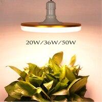 20 w 36 50 ufo led crescer espectro completo de luz à prova dwaterproof água quente branco e27 fitoampy para o crescimento da planta ao ar livre indoor lâmpada crescer tenda|Luzes LED crescimento plantas| |  -