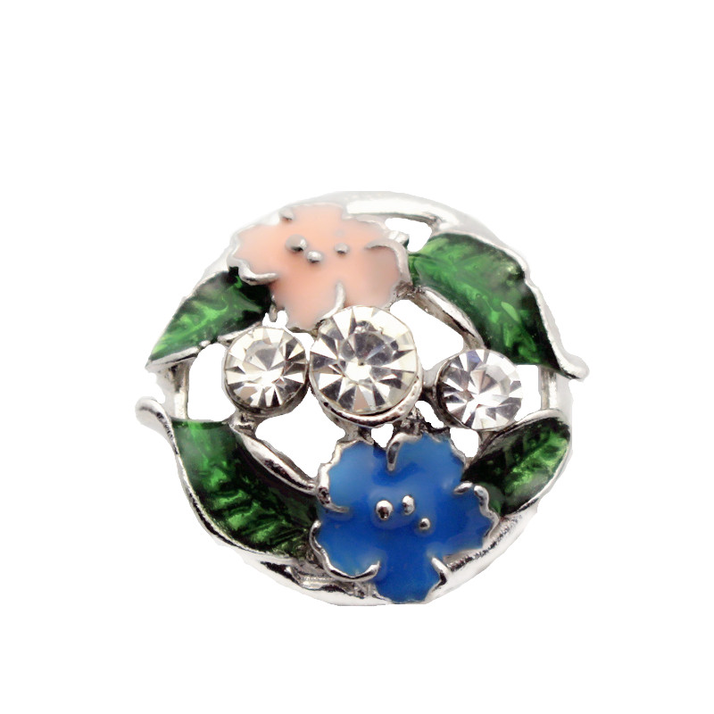 10pcs lot Metal Enamel Butterfly Rhinestone Snap Button Charms Fit 18mm 20mm Ginger Snap Buttons Bracelets Necklace DIY Jewelry in Charm Bracelets from Jewelry Accessories
